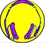 casque rose:jaune rond