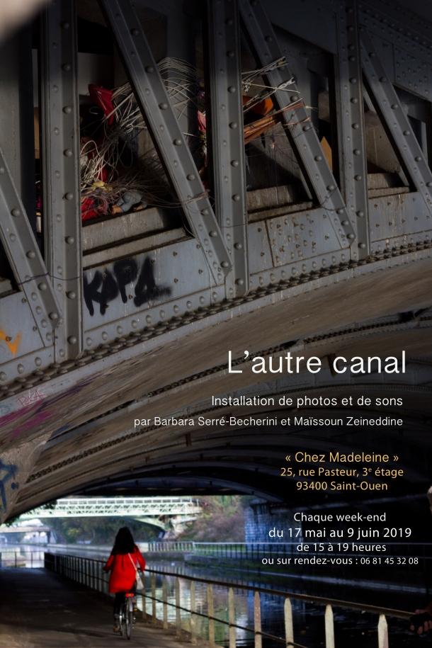 affiche de l'exposition. Chaque week-end du 17 mai au 09 juin de 15 à 19 heures. Chez Madeleine 25, rue Pasteur, 3ème étage 93400 Saint-Ouen.